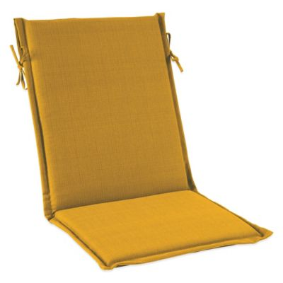 Outdoor Sling Cushion with Ties in Yellow