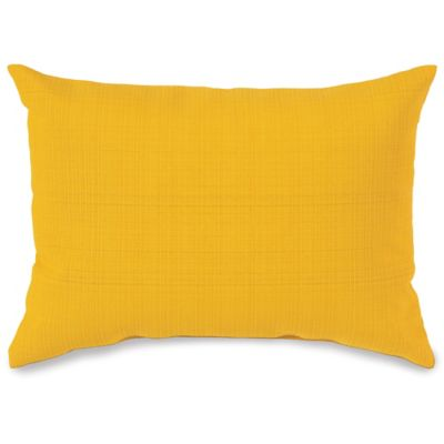 12-Inch x 16-Inch Outdoor Oblong Throw Pillow in Yellow