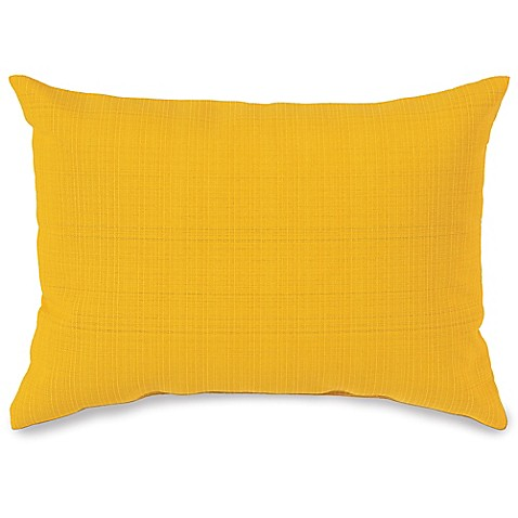 Buy 12-Inch x 16-Inch Outdoor Oblong Throw Pillow in Yellow from Bed Bath & Beyond