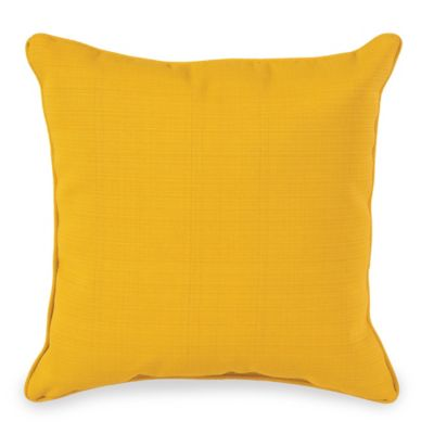 20-Inch Outdoor Square Throw Pillow in Yellow
