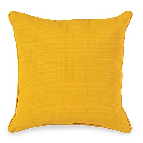 Yellow Throw Pillows Bed : 20-Inch Outdoor Square Throw Pillow in Yellow - Bed Bath & Beyond