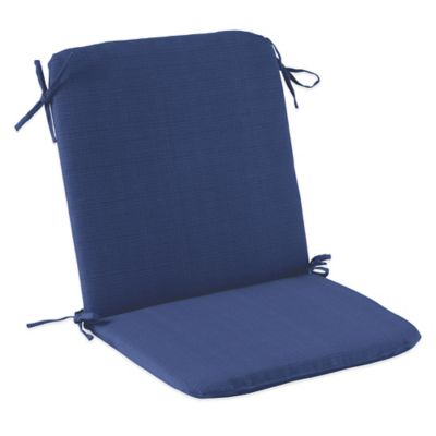 Outdoor Mid Back Cushion with Ties in Pool