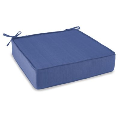 Outdoor Deep Seating Cushion with Ties in Pool