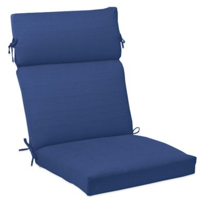 Outdoor High Back Cushion with Ties in Pool