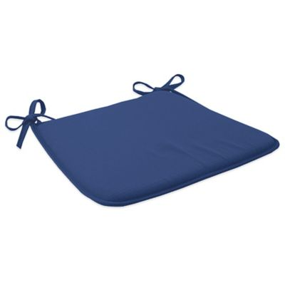 Outdoor Bistro Chair Cushion with Ties in Pool
