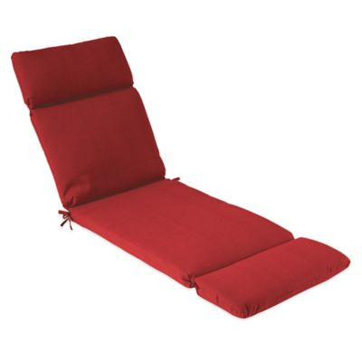 Solid Outdoor Chaise Cushion in Red