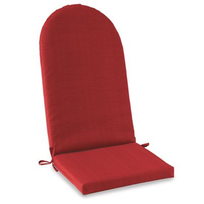 Solid Outdoor Adirondack Cushion with Ties in Red