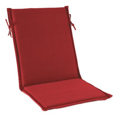 Solid Outdoor Sling Cushion with Ties in Red