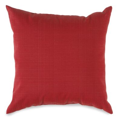 17-Inch Outdoor Square Throw Pillow in Red