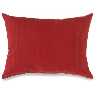 12-Inch x 16-Inch Outdoor Oblong Throw Pillow in Red