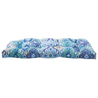 Outdoor Sette Cushion in Ikat Blue