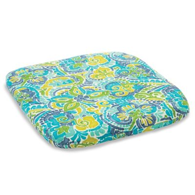 Outdoor Chair Cushion in Mosaic Blue