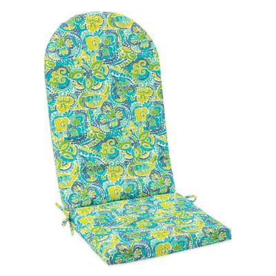 Outdoor Adirondack Cushion with Ties in Mosaic Blue