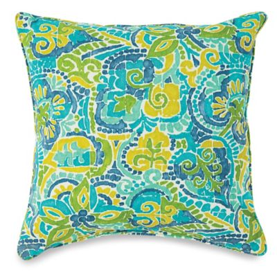 17-Inch Outdoor Throw Pillow in Mosaic Blue