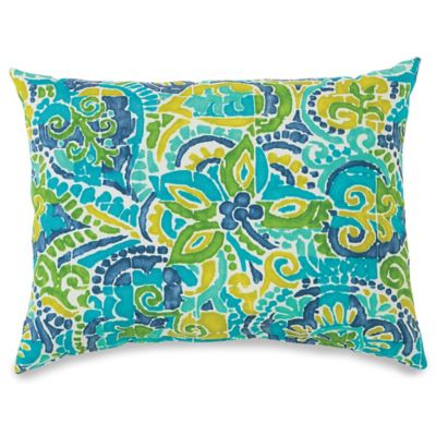 12-Inch x 16-Inch Outdoor Oblong Throw Pillow in Mosaic Blue