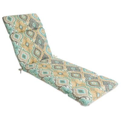Outdoor Chaise Cushion in Ikat Mist