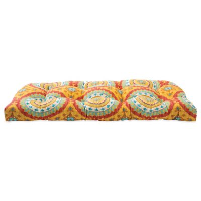 Outdoor Settee Cushion in Sunset Red