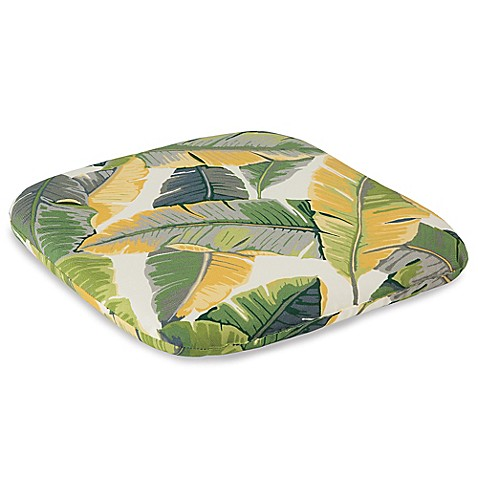 Outdoor Chair Cushion in Leaves Bed Bath & Beyond