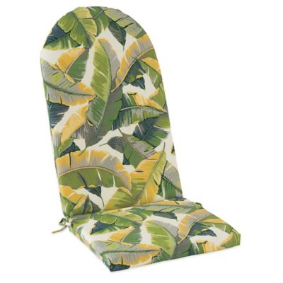 Outdoor Adirondack Cushion with Ties in Large Leaves