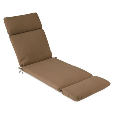 Outdoor Chaise Cushion in Camel