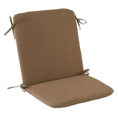 Outdoor Mid Back Cushion with Ties in Camel