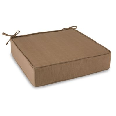 Outdoor Deep Seating Cushion with Ties in Camel