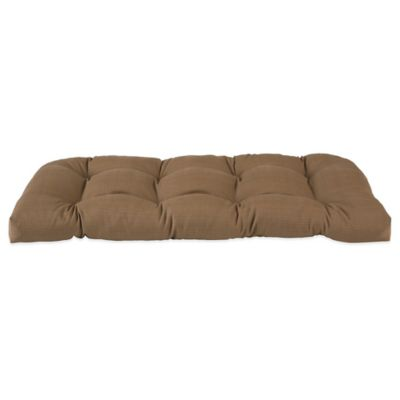 Outdoor Settee Cushion in Camel