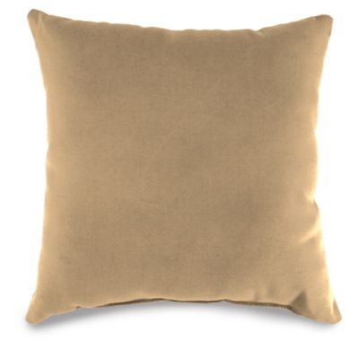 20-Inch Outdoor Square Throw Pillow in Camel