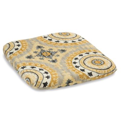 Outdoor Chair Cushion in Sunset Yellow