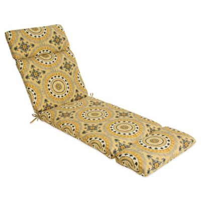Outdoor Chaise Cushion in Sunset Yellow