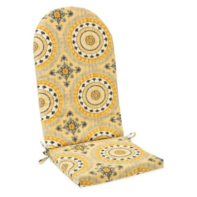 Outdoor Adirondack Cushion with Ties in Sunset Yellow
