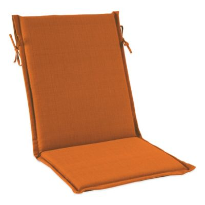 Solid Outdoor Sling Cushion with Ties in Orange