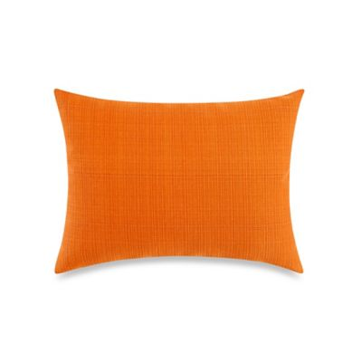 Solid 12-Inch x 16-Inch Outdoor Oblong Toss Pillow in Orange