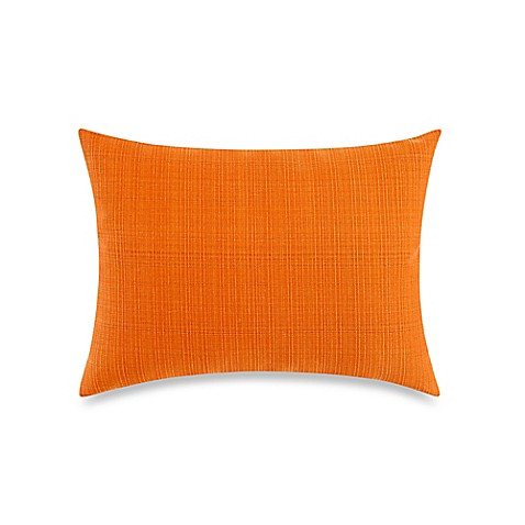 Buy Solid 12-Inch x 16-Inch Outdoor Oblong Throw Pillow in Orange from Bed Bath & Beyond