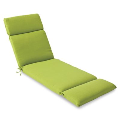 Solid Outdoor Chaise Cushion in Kiwi