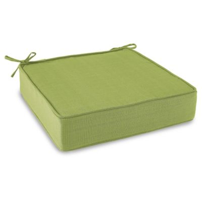 Solid Outdoor Deep Seating Cushion with Ties in Kiwi