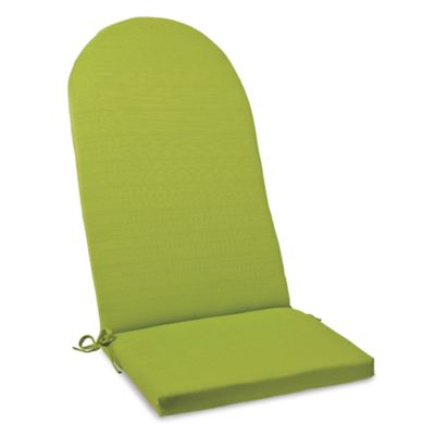 Solid Outdoor Adirondack Cushion with Ties in Kiwi