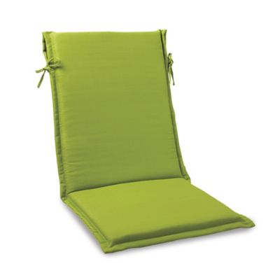 Solid Outdoor Sling Cushion with Ties in Kiwi