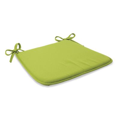 Solid Outdoor Bistro Chair Cushion with Ties in Kiwi