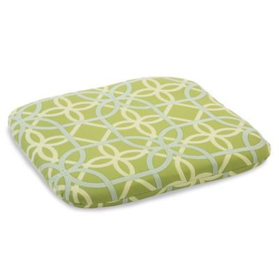 Outdoor Chair Cushion in Fret Kiwi