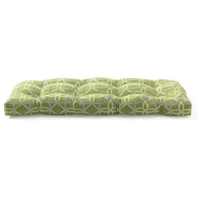 Outdoor Settee Cushion in Fret Kiwi
