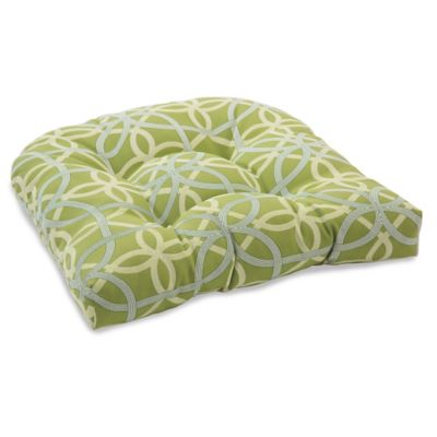 Outdoor Tufted Cushion in Fret Kiwi