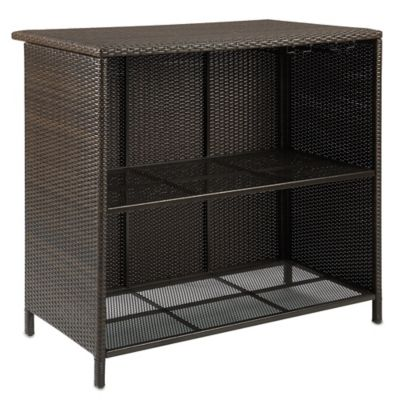Barrington Wicker Deluxe Outdoor Bar