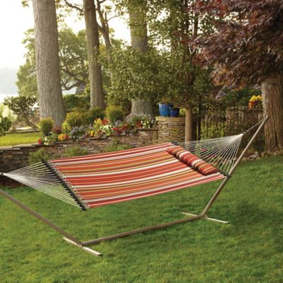 Hammock with Pillow in Spice Stripe