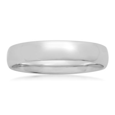 Sterling Silver 4mm Size 4 Ladies' Comfort-Fit Wedding Band