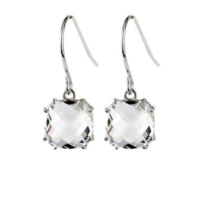 Clear Drop Earrings