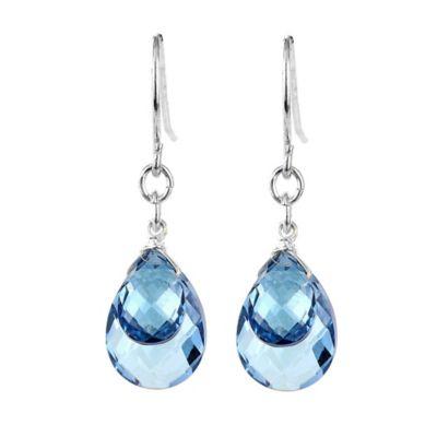 Suzanne Kalan Sterling Silver Pear Shape 13 cttw Blue Topaz Briolettes Dangle Drop Earrings