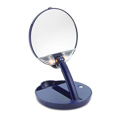 Floxite 15X Mirror Mate™ Lighted Adjustable Compact