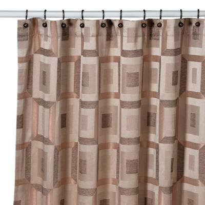 Croscill® Metro 70-Inch x 75-Inch Shower Curtain in Bronze