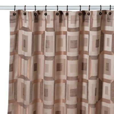 Croscill® Metro 70-Inch x 75-Inch Shower Curtain in Bronze